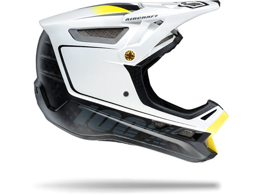 100% Aircraft Downhill Helmet-Bi-Turbo White  - J&R Bicycles BMX Super Store