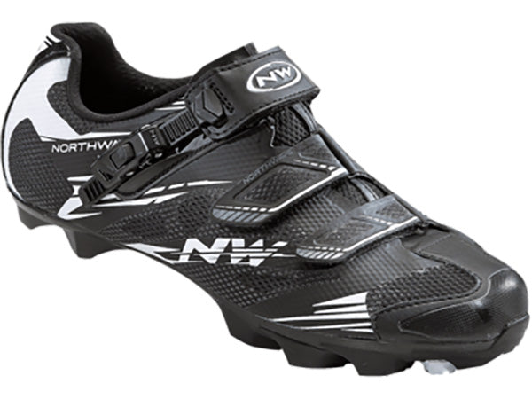 Northwave Scorpius 2 SRS Clipless Shoes-Black/White