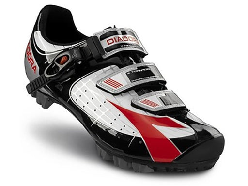 Diadora X-Tornado Clipless Shoes-White/Black/Red