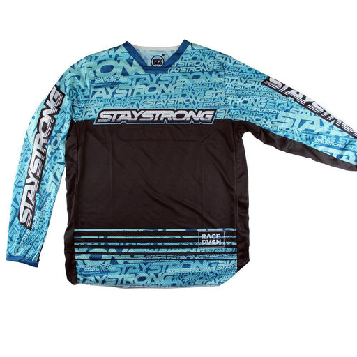 Stay Strong Mash Up Race Jersey-Teal/Black