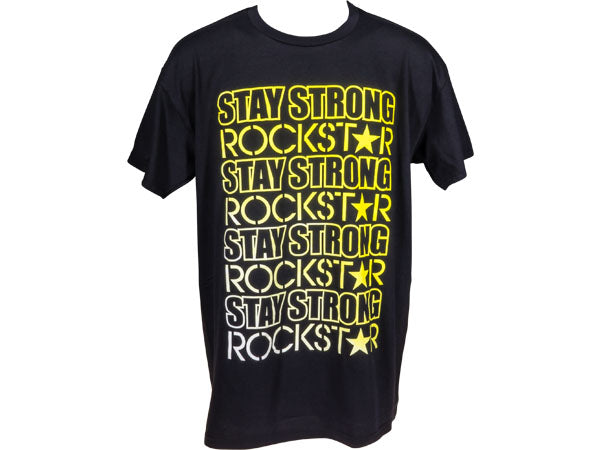 STAY STRONG Rockstar T-Shirt | BLACK/YELLOW