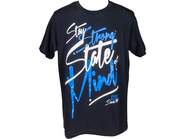 STAY STRONG State of Mind T-Shirt | BLACK/BLUE