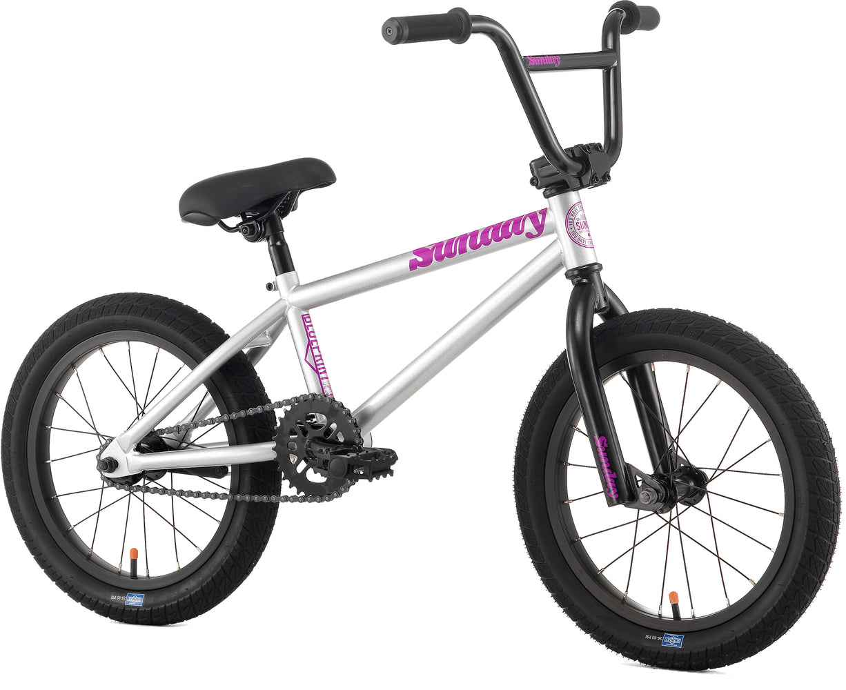 "Sunday 2016 Blueprint 16"" Bike-Silver/Purple"