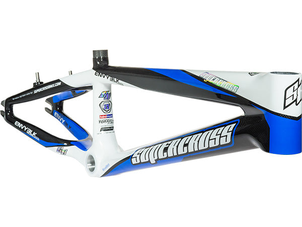 SUPERCROSS Envy BLK Carbon Fiber Race Frame | BLACK/WHITE/CYAN