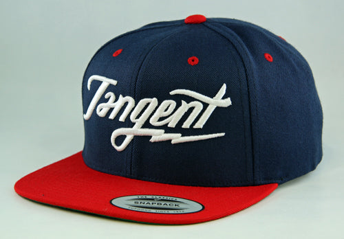 Tangent Bolt Snapback Hat OSFA | NAVY/RED/WHITE