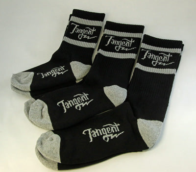 Tangent Tubular Socks-Black/Grey