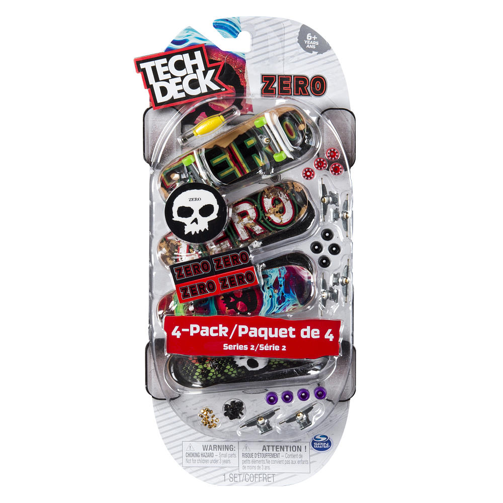 Tech Deck Mini Skateboard-Zero Series 2-4 Pack