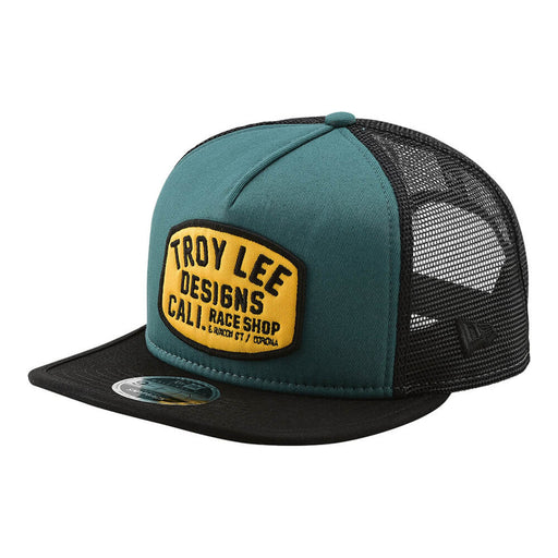 Troy Lee Designs Blockworks Snapback Hat-Pine Needle Green/Gold