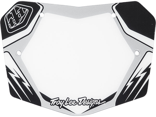 Troy Lee BMX Plate | Silver/Black/White