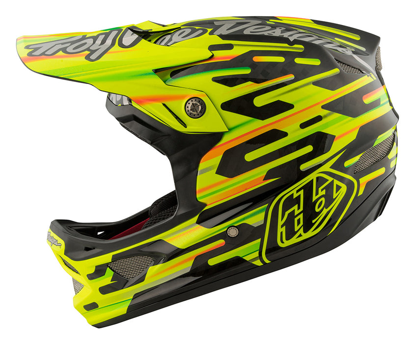 Troy Lee D3 Carbon MIPS Helmet-Code Yellow