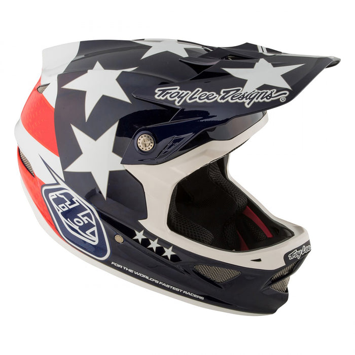 Troy Lee D3 Carbon MIPS Helmet-Freedom Blue