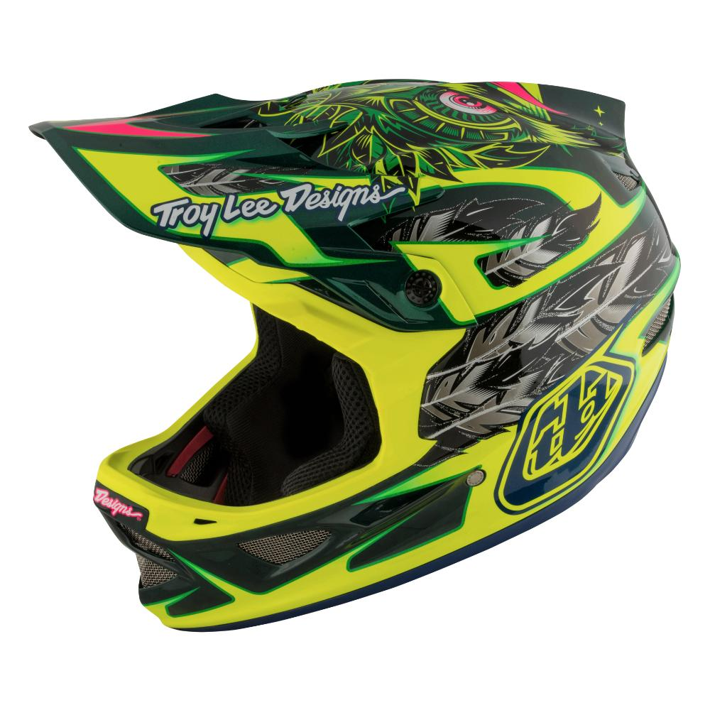 Troy Lee D3 Carbon MIPS Helmet-Nightfall Green