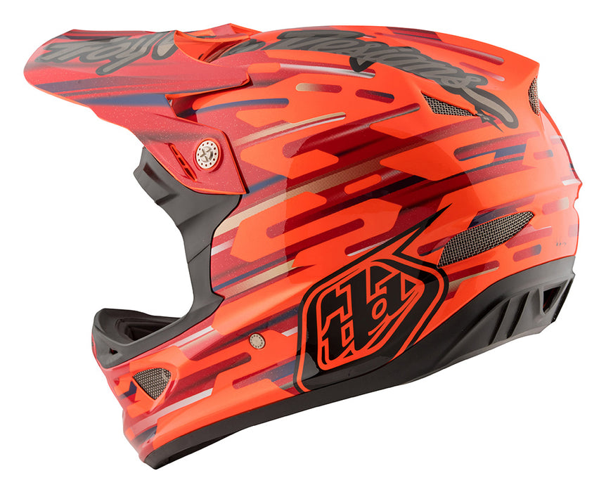 Troy Lee D3 Composite Helmet-Code Orange