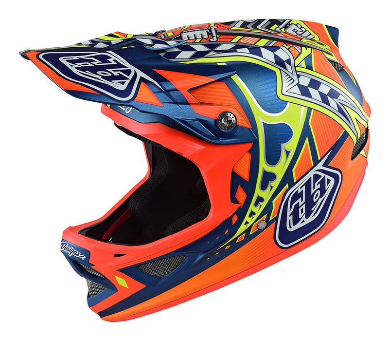 Troy Lee D3 Composite Helmet-Longshot Orange