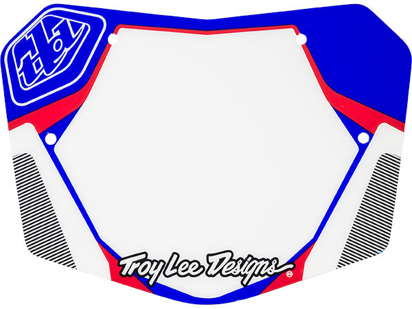 Troy Lee Snap Number Plate | Red/White/Blue