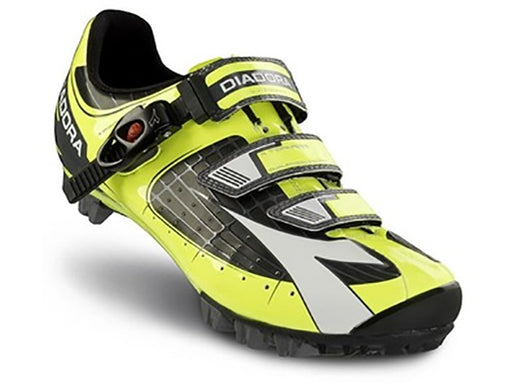 Diadora X-Tornado Clipless Shoes-Black/Fluorescent Yellow