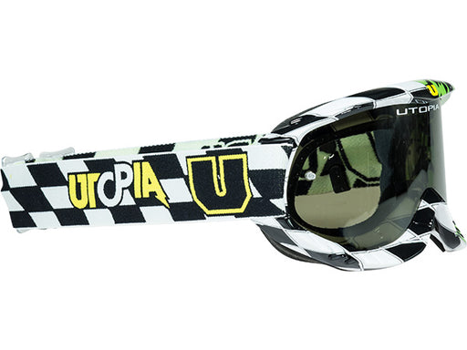 Utopia Slayer Pro MX Checkers II Goggle-Green/Black
