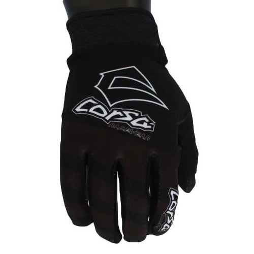 Corsa Unleashed Velcro Glove-Black/White