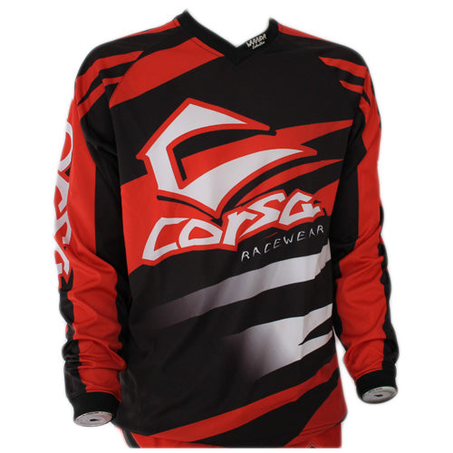 Corsa Warrior BMX Racing Jersey-Red