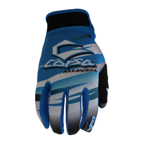 Corsa Warrior BMX Racing Gloves-Blue