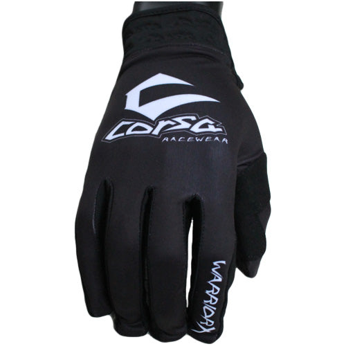 Warrior X Race Glove-Black/White