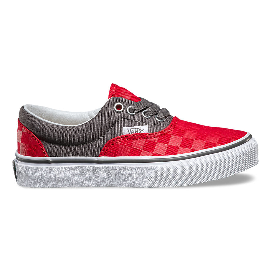Vans Checkerboard Era-Kids-Racing Red/Pewter
