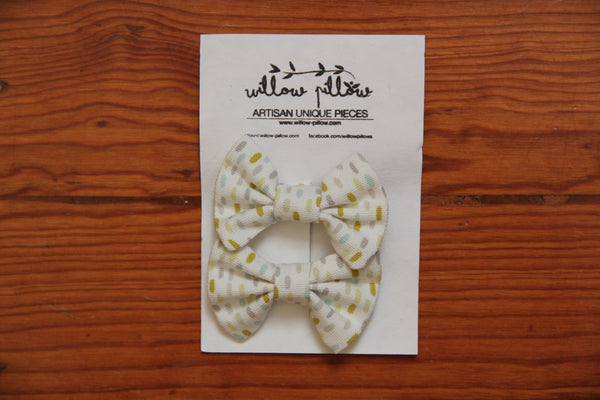 Hairclip Cotton Bow 10