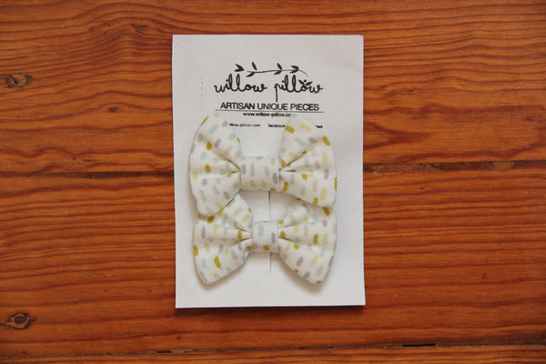 Hairclip Cotton Bow 16