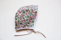 Basic Bonnet Flowers&Pink Reversible 18-24m