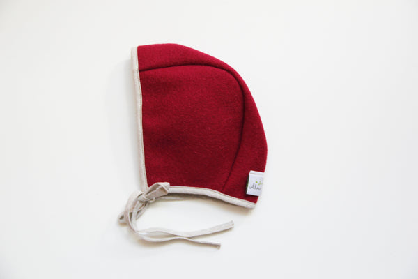 Basic Burel Bonnet Fuschia 3-6m
