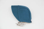 Brimmed Burel Bonnet Blue 0-3m