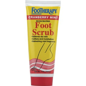 FooTherapy Cranberry Mint Invigorating Foot Scrub 7oz