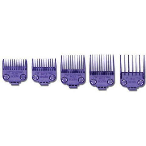 Andis Small Nano-Silver Magnetic Comb Set 5ct