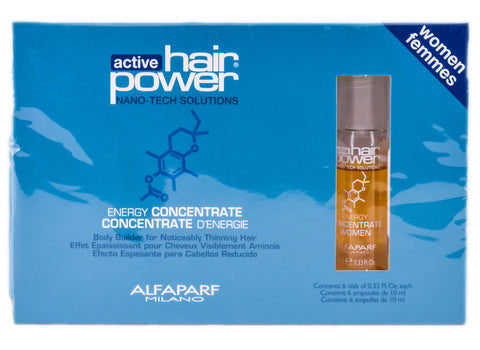 Alfaparf Active Hair Power Energy Concentrate Women 6 Vials x 0.33oz
