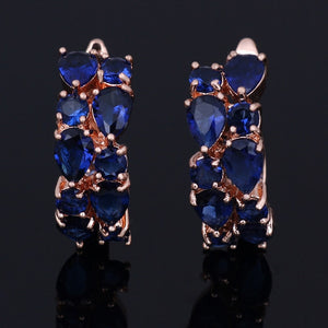 LXOEN Classic Semi-precious Stone Stud Earrings