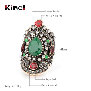 Kinel Hot Green or Blue Vintage Rings Sizes 7-12