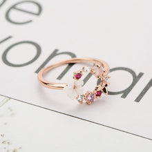 Load image into Gallery viewer, Fashion Creative Butterfly Flowers Crystal Rings