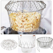 Load image into Gallery viewer, Foldable Fry Basket Kitchen Cooking Tool