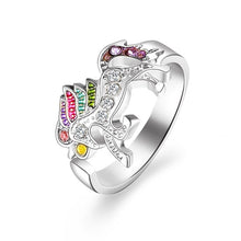 Load image into Gallery viewer, Fashion Cute Cartoon Unicorn Ring  Adjustable