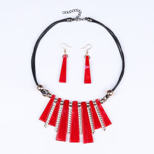 Load image into Gallery viewer, Guvivi Luxury Choker Drop Tassel Statement Maxi Necklace Set
