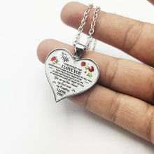 Load image into Gallery viewer, To My Mom Grandma Daughter Heart Necklace