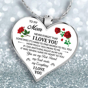 To My Mom Grandma Daughter Heart Necklace