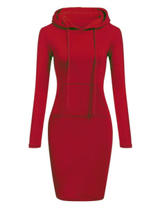 Fashion Women Pullovers Hooded Dress