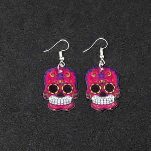 Calavera Sugary-sweet whimsical skull Earrings