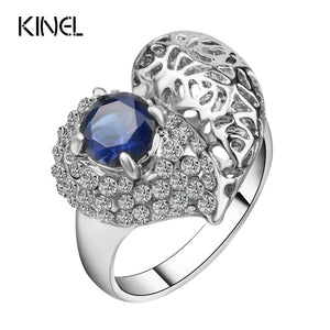 Kinel Fashion Love Mosaic Heart Rings