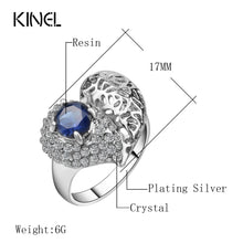 Load image into Gallery viewer, Kinel Fashion Love Mosaic Heart Rings