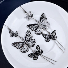Load image into Gallery viewer, 17KM Fashion Gold Color Alloy Double bow Butterfly drop earrings