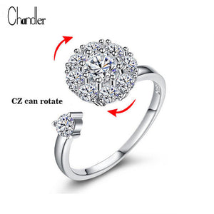 Chandler Rotate 925 Sterling Silver CZ Crystal Open Knuckle Toe Rings