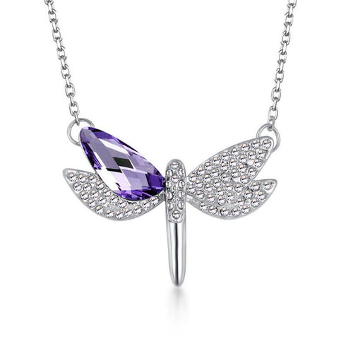 Cute Dragonfly Pendant Necklace