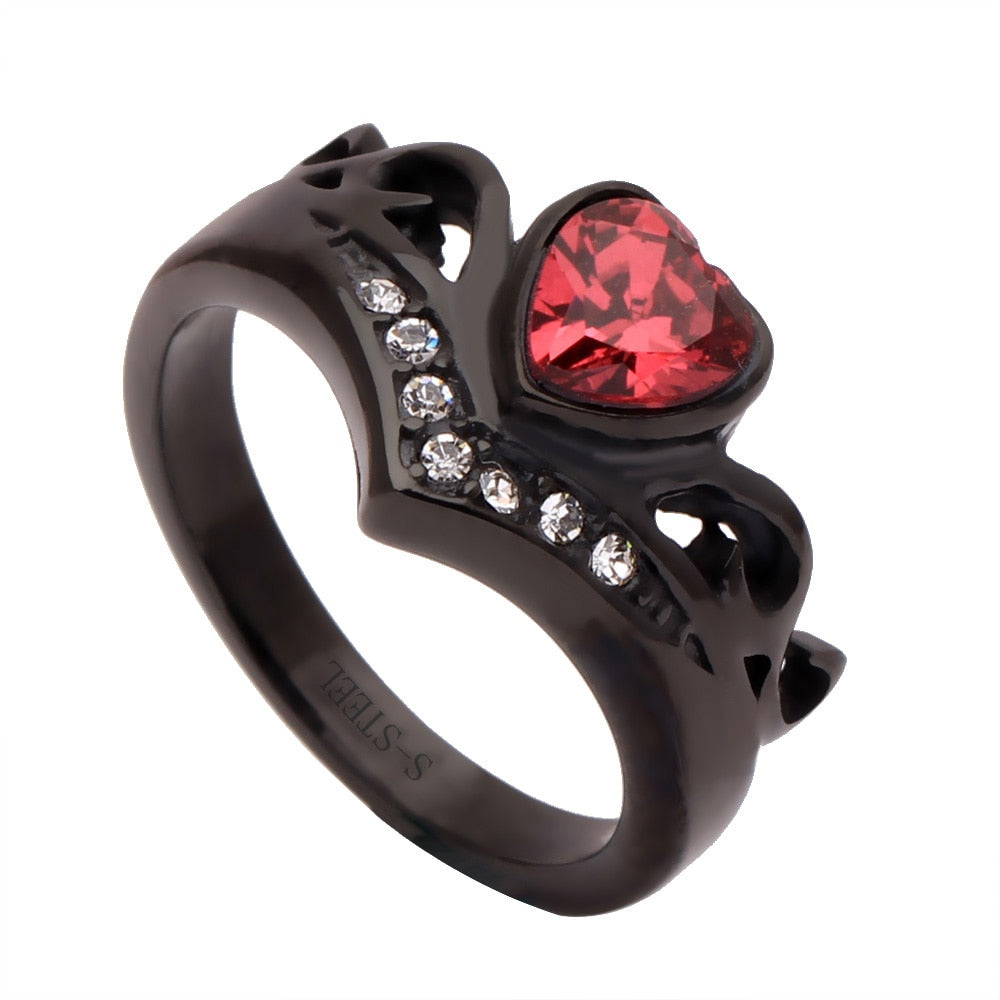 Fashion Black Color 316L Stainless Steel Rings